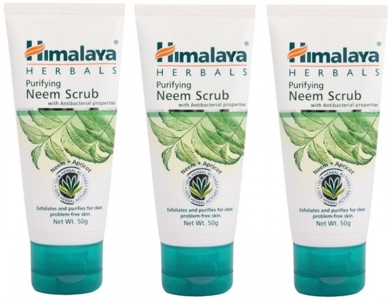 Himalaya Purifying Neem Scrub (Pack of 3) Scrub(150 g)