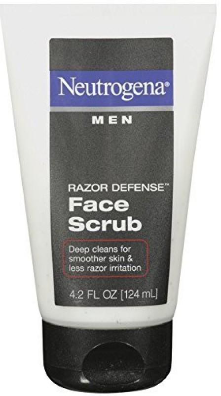 Neutrogena Men Razor Defense Face Scrub(124 ml)