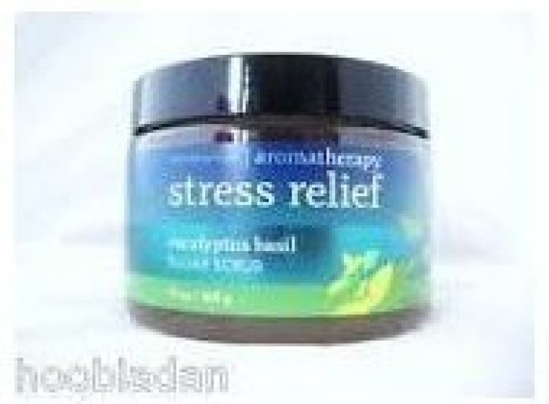 Bath & Body Works aromatherapy stress relief eucalyptus basil suger scrub Scrub(368 g)