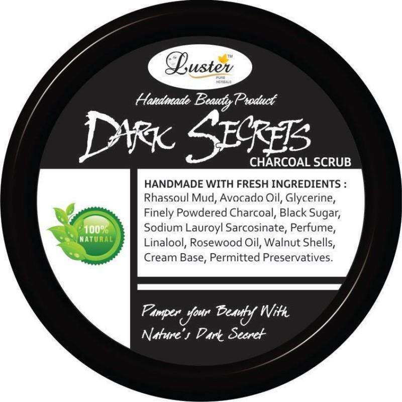 Luster Dark Secrets Charcoal Scrub(100 ml)