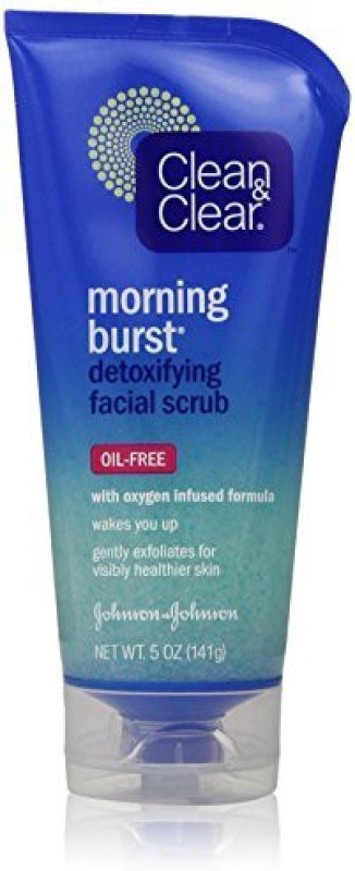 Clean & Clear Morning Burst Detoxifying Facial Scrub(141 g)
