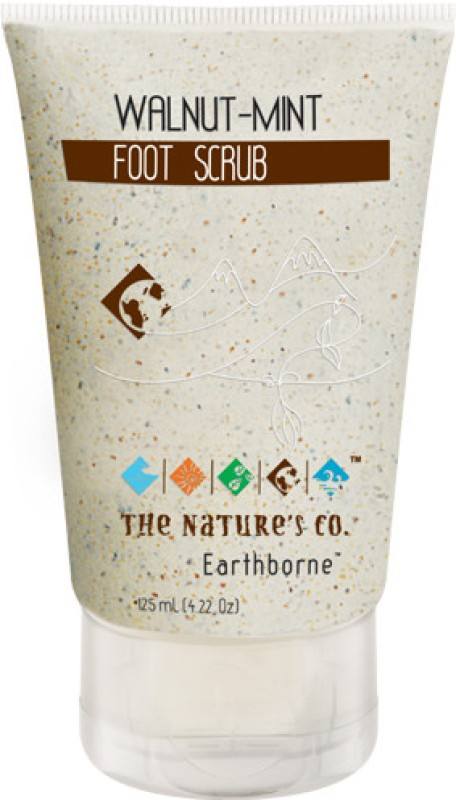 The Natures Co Walnut Mint Foot Scrub(125 ml)