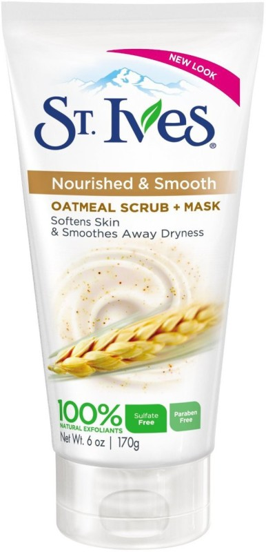 St. Ives Oatmeal Scrub + Mask, Smooth & Nourished Oatmeal Scrub(170 g)