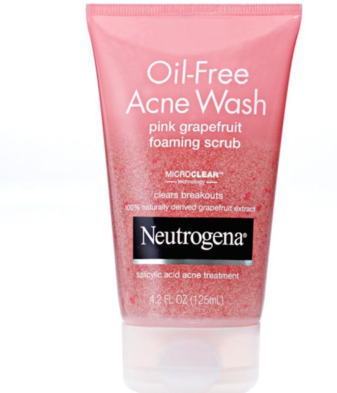 Neutrogena Oil-free acne wash pink grapefruit foaming Scrub(125 ml)