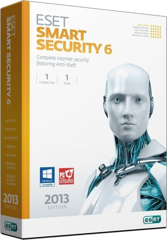 Eset Smart Security Version 6 1 PC 1 Year
