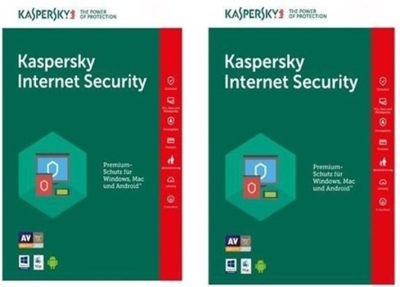Kaspersky Internet Security 2017 2Pc 1Year New Slim Pack(2cds,2Key Free Plastic Cd cover - Every Serial Number 1 Year Validity)