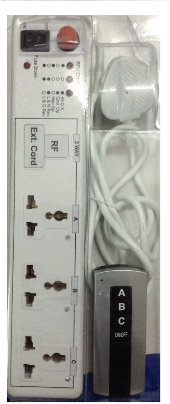 Acme Electronics 3Way Wireless Extension cord with RF Remote Control Wireless Sensor Security System