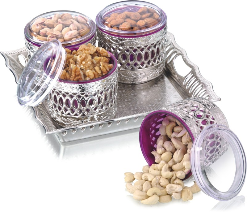 Sukhson India Bowl Tray Serving Set(Pack of 5)