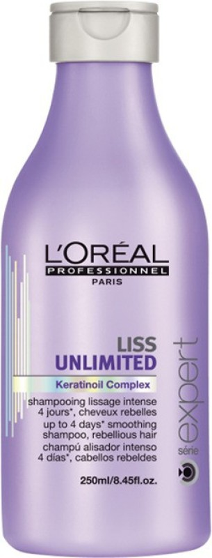 L'Oreal Paris Expert Liss Unlimited KeratinOil Comlex Smoothing Shampoo(250 ml) image