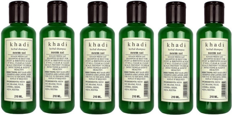 Khadi Herbal Herbal Neem Sat Shampoo - Family Pack(1260 ml)