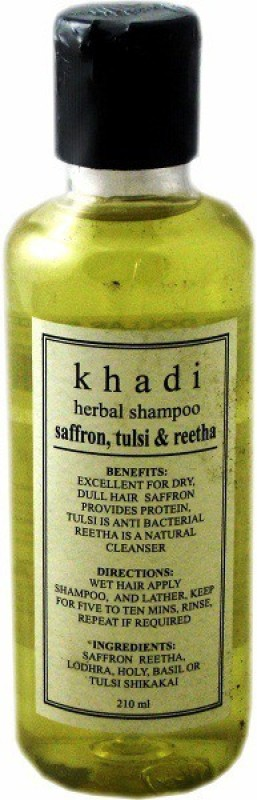 Khadi Herbal Saffron, Tulsi & Reetha Shampoo(210 ml)
