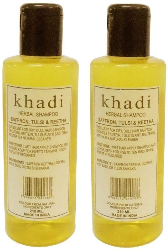 Khadi Herbal Saffron, Tulsi & Reetha Shampoo(420 ml)