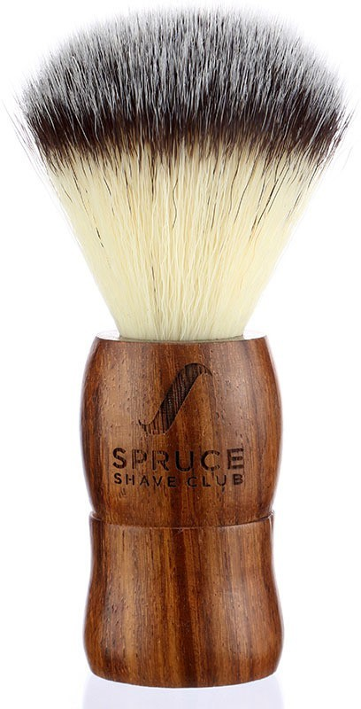 Spruce Shave Club Genuine Wood  - Imitation Badger Hair Shaving Brush