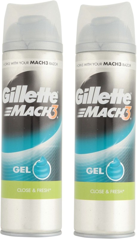 Gillette Mach3 Close & Fresh Shave Gel ( pack of 2 )(200 ml)