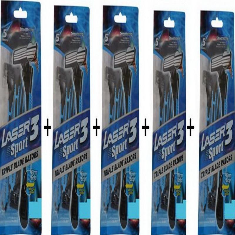Laser Sport 3 Razor(Pack of 5)