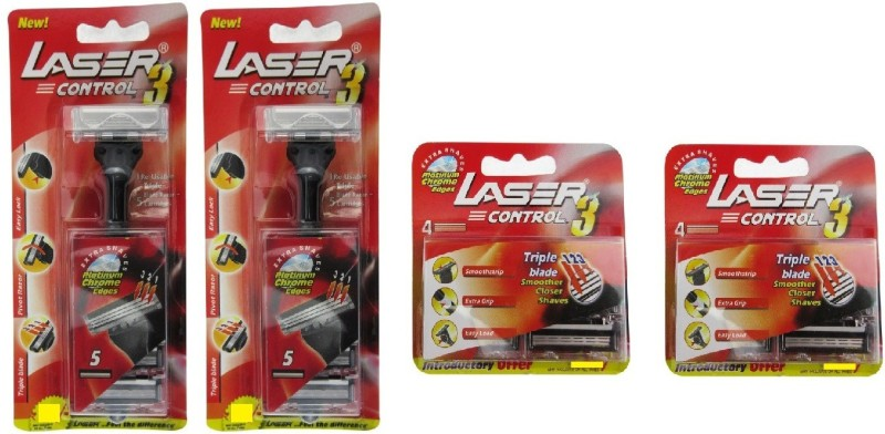 Laser Control 3 Reusable Triple Blade Razor(Pack of 2)