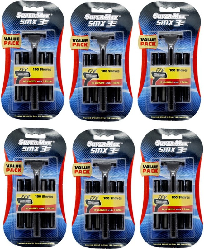 Super Max 3 SMX Razor(Pack of 6)
