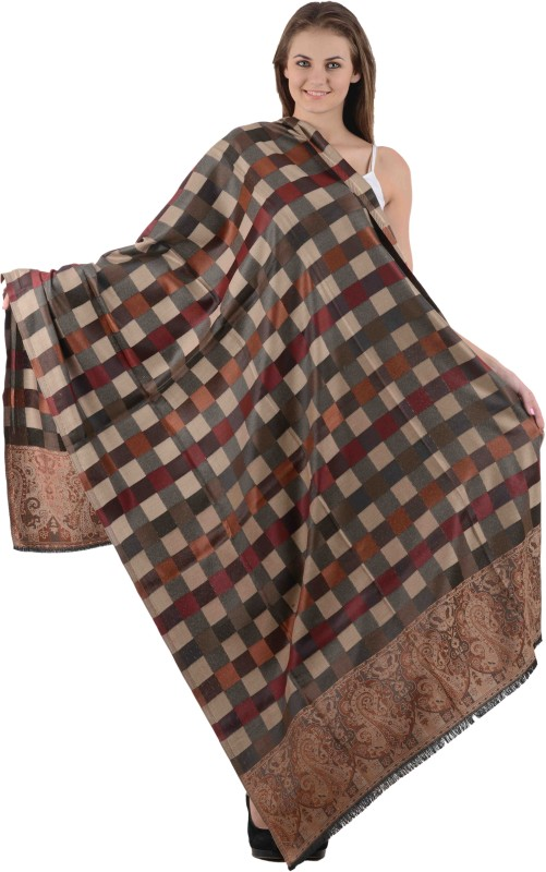 Christys Collection Poly Cotton Self Design Womens Shawl(Multicolor)