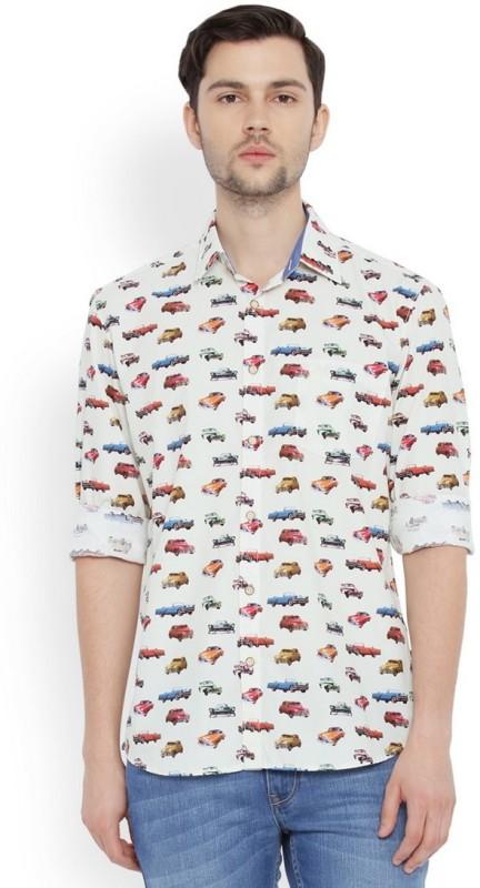 Parx Mens Printed Casual Shirt