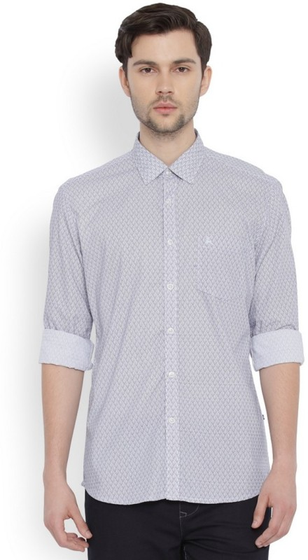 Parx Mens Printed Casual Shirt