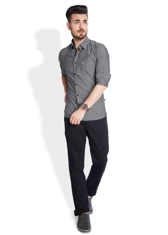 Parx Mens Solid Casual Shirt