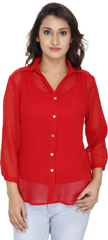 2 Day Womens Solid Casual Shirt