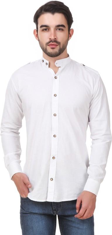 2. Elepants Men's Solid Casual White Shirt