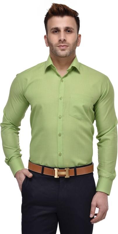 4. Lee//Marc Men's Solid Formal Green Shirt