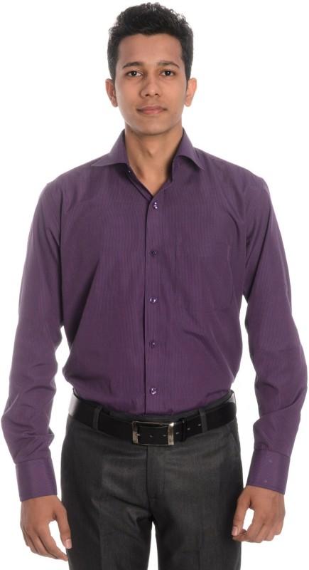 Tag & Trend Men's Striped Formal Spread Collar Shirt