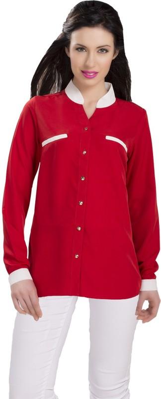 IshinDesignerStudio Women Solid Casual Red Shirt
