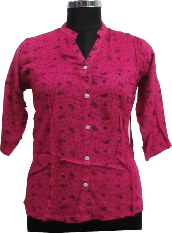 Scooboo Women's Printed Party Pink Shirt