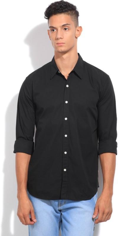 Levis Mens Solid Casual Spread Collar Shirt