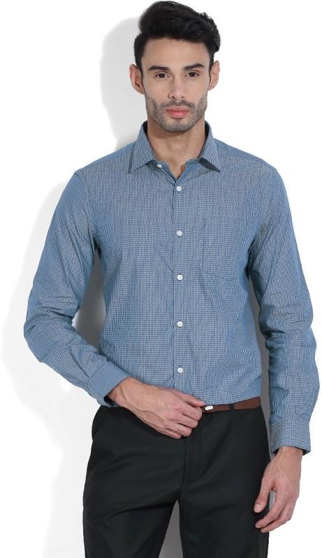 Arrow Mens Checkered Casual Blue Shirt