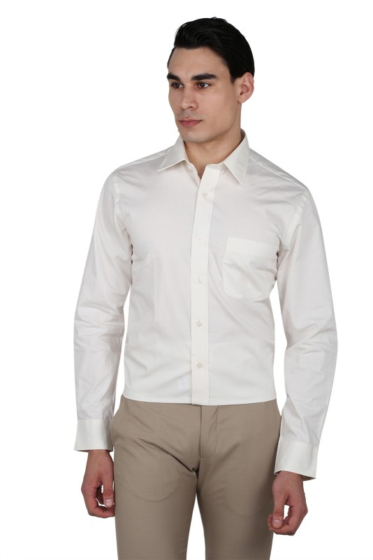 Arrow Mens Solid Casual White Shirt