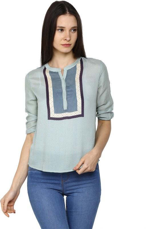 Arrow Womens Printed Casual Blue Shirt