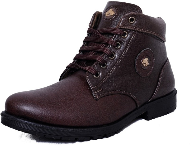 Black Tiger Men's Synthetic Leather Casual Shoes 091-Brown-6 Casuals For Men(Brown)