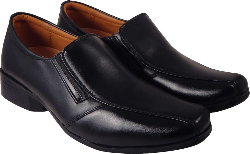 Action Synergy Mens ME9967 Black Formal Slip On(Black)