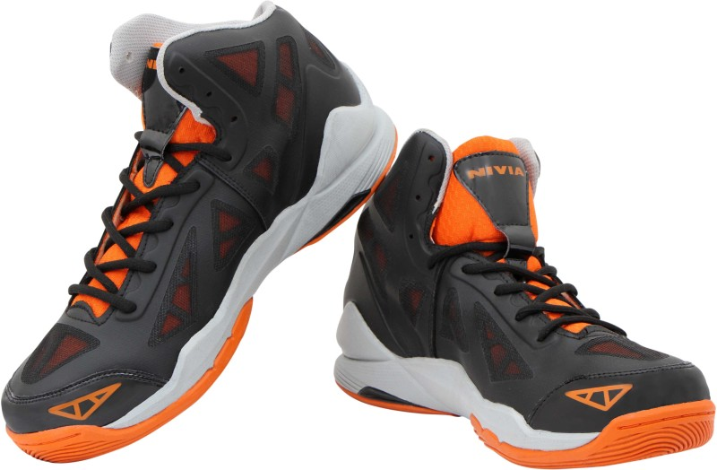 Nivia Typhoon Basketball Shoes(Black, Orange)