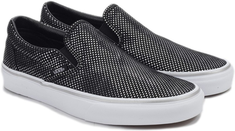 Vans CLASSIC SLIP-ON Loafers For Men(Black)