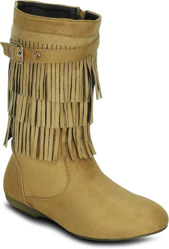 Get Glamr AMANDA Boots For Women(Tan)