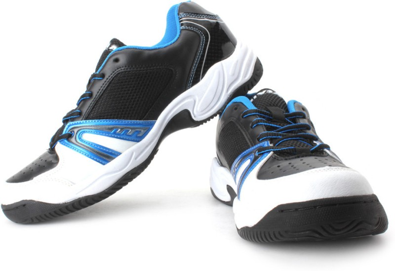 Nivia Energy Tennis Shoes For Men(White, Black, Blue)