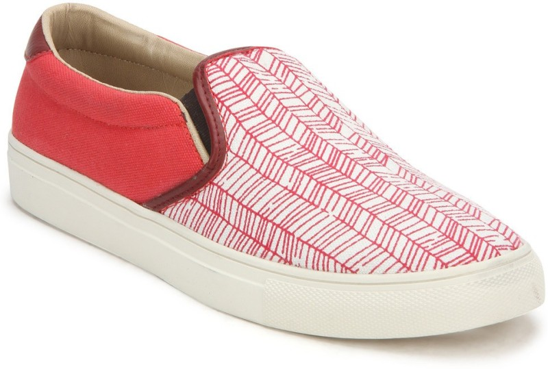 Knotty Derby Lily Loafer Sneakers For Women(Red)