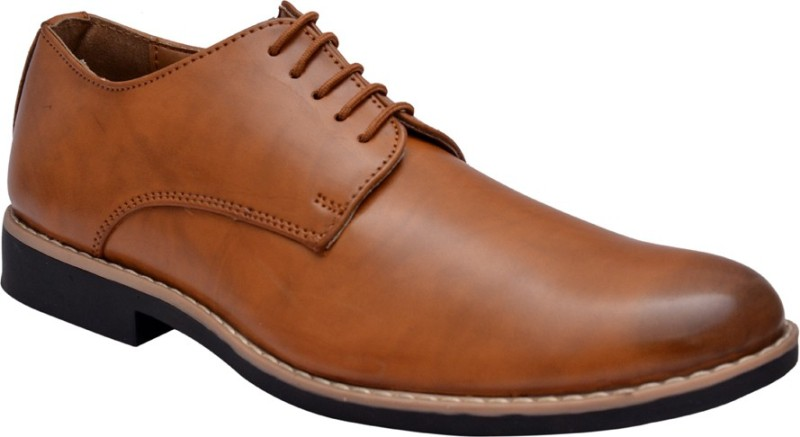 Hirels Derby Lace Up Derby For Men(Tan)