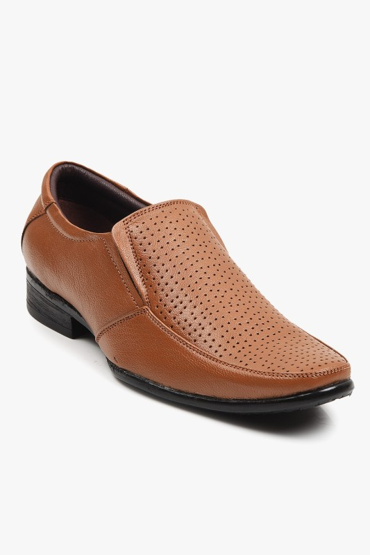 Buckle Up Premium Formal Shoe Slip On(Tan)