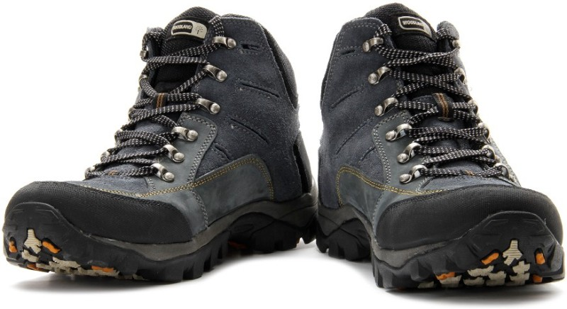 Woodland Boots For Men(Black, Blue)