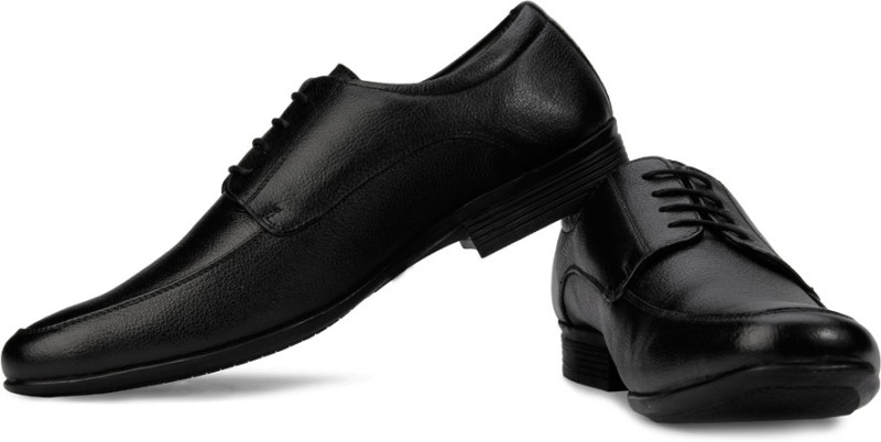 Hush Puppies By Bata Adley Lace Up Shoes For Men(Black)