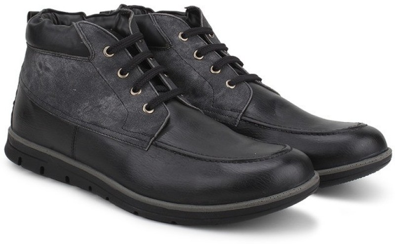 Knotty Derby Anthony Penny Ankle Corporate Casuals For Men(Black, Grey)