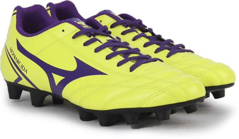 Mizuno MONARCIDA MD (EU) Football Shoes For Men(Black, Purple, Yellow)