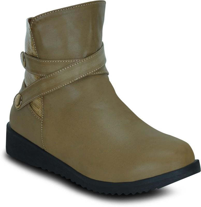 Get Glamr EDNA Boots For Women(Beige)