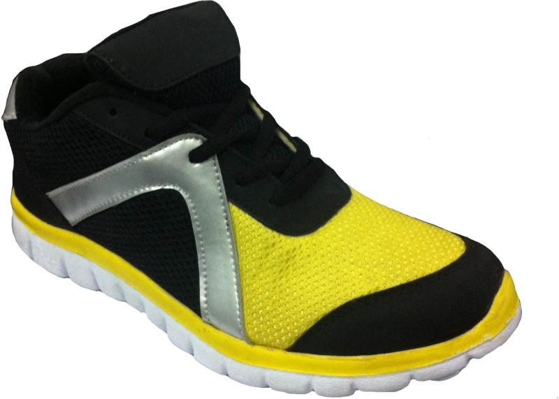 Port YellowBlk Bosskin Sports Walking Shoes For Men(Yellow)